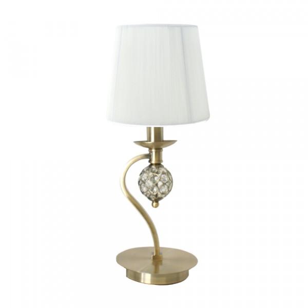 Lámpara de Sobremesa Bronce Viejo con Pantalla de Hilo