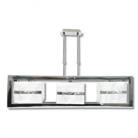 Lámpara Colgante Cromo con Pantalla 3 Luces