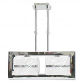 Lámpara Colgante Cromo con Pantalla 2 Luces