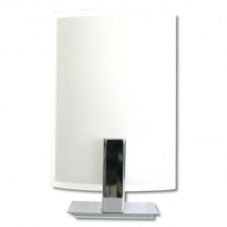 Lámpara de Sobremesa Cromo y Cristal E27