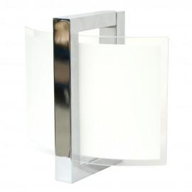 Aplique de Pared Cromo y Cristal E27 Pequeño
