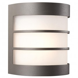 Aplique de Pared Calgary Gris Antracita con bombilla Philips LED