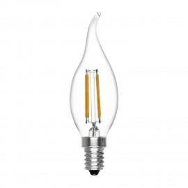 Bombilla Vela Tornado Regulable de Filamento LED 4W 2.700K Luz Cálida E14