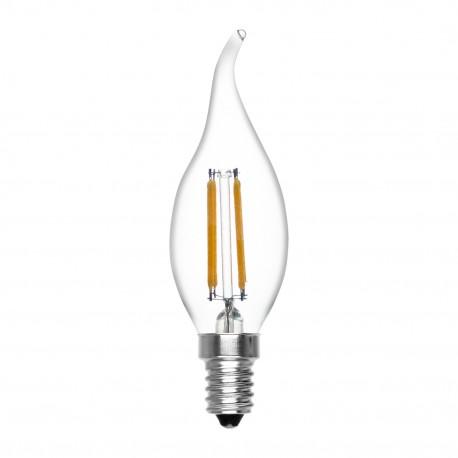 Bombilla Vela Tornado Regulable de Filamento LED 4W 6000K Luz Blanca E14