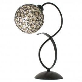 Lámpara de Sobremesa Marrón y Cristal Colección Kegan