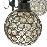 Lámpara Colgante Marrón y Cristal 5 Luces Colección Kegan