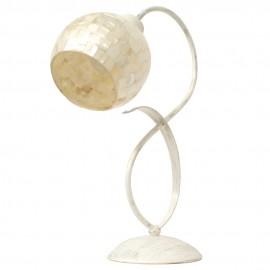 Lámpara de Sobremesa Crema y Nácar Colección Kegan Desierto