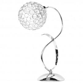 Lámpara de Sobremesa Cromo y Cristal Colección Kegan