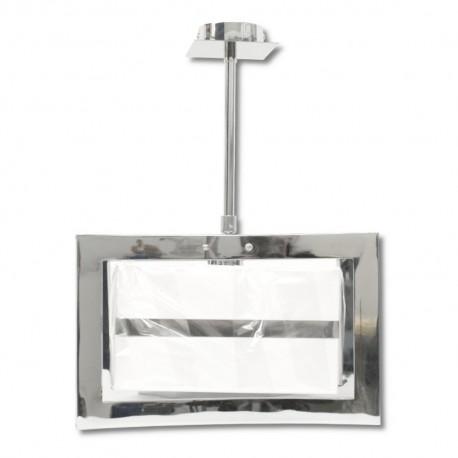 Lámpara Colgante Cromo con Pantalla 1 Luz