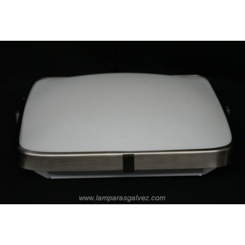 Plafón de Aluminio Cuadrado Diseño Moderno 52cm