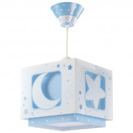Lámpara Infantil Colgante Luna Azul con Difusor