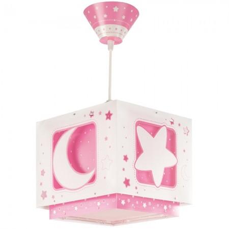 Lámpara Infantil Colgante Dalber Moon Light Luna Rosa con Difusor