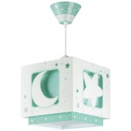 Lámpara Infantil Colgante Luna Verde con Difusor
