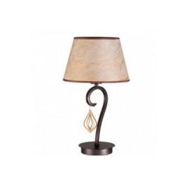 Lámpara de mesa Forja Arlés Marrón oscuro 1 luz