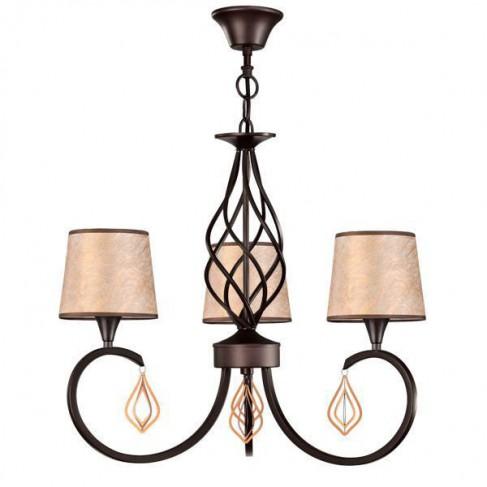 Lámpara Colgante Forja Arlés Marrón oscuro 3 luces