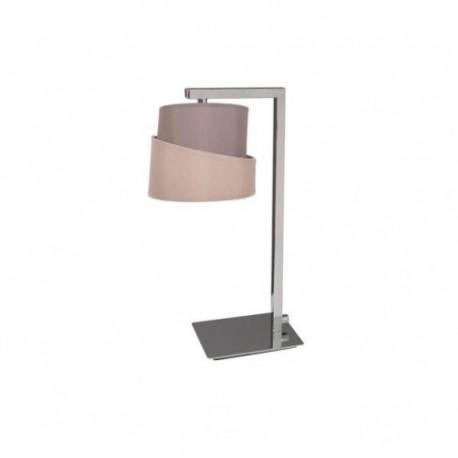 Lámpara de Sobremesa Colonia Cromo Topo 1 Luz