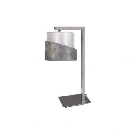Lámpara de Sobremesa Colonia cromo Plata 1 Luz