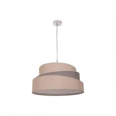 Lámpara Colgante Colonia 50 Cromo Topo 3 Luces