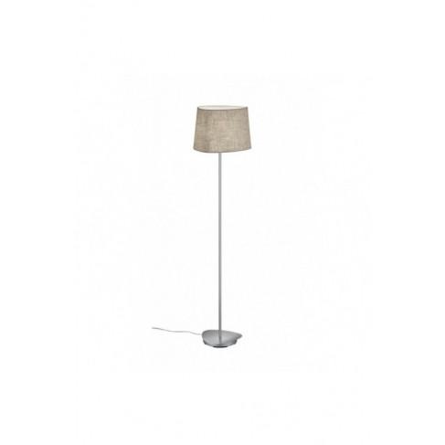Lámpara de Pie Crosby níquel con pantalla 1 Luz