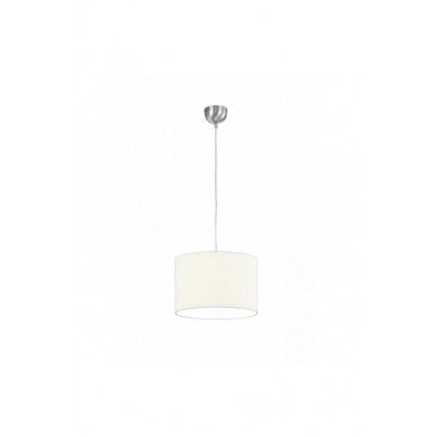 Lámpara colgante Tripolis níquel con pantalla 1 Luz
