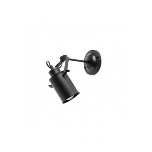 Plafón de Techo/Aplique List Negro 1 luz