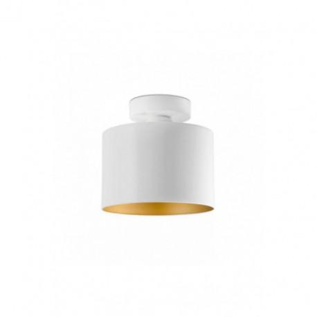 Plafón de Techo Janet Blanco Oro 1 luz