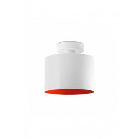 Plafón de Techo Janet Blanco Rojo 1 luz