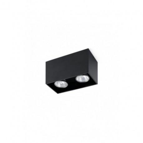 Plafón de Techo Tecto Negro 2 luces