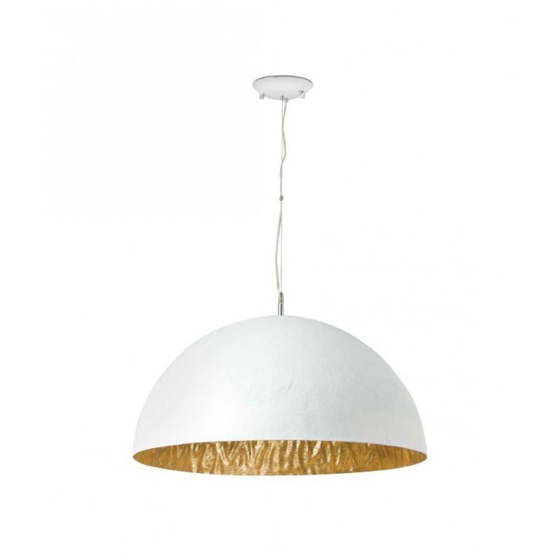 Lámpara Colgante Magma 70 cm Blanco Oro