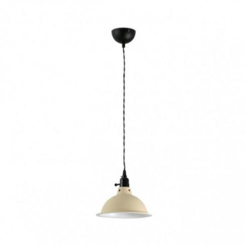 Lámpara Colgante beige con interruptor Pepper 1 Luz