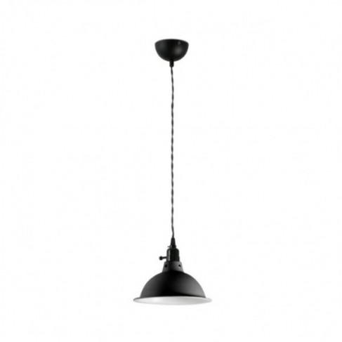 Lámpara Colgante negro con interruptor Pepper 1 Luz