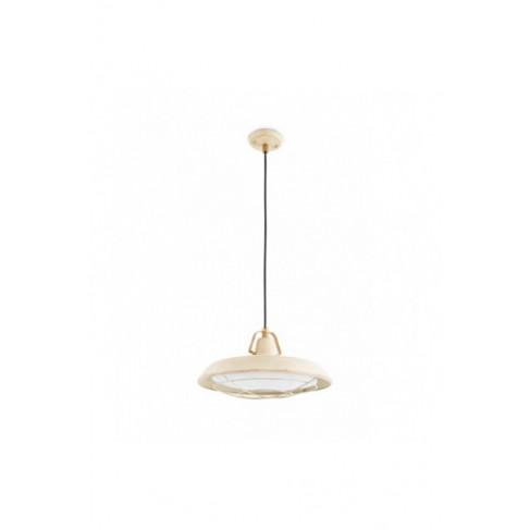 Lámpara Colgante Industrial Plec blanco roto 1 Luz LED