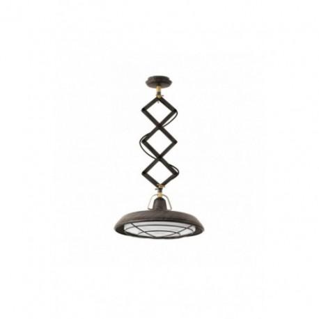 Lámpara Colgante Extensible Plec marrón envejecido 1 Luz LED