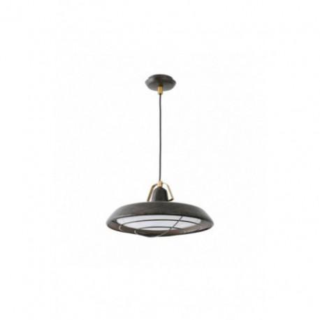 Lámpara Colgante Industrial Plec marrón envejecido 1 Luz LED