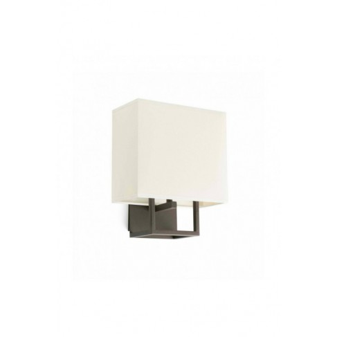 Aplique de Pared Vesper Marrón pantalla Beige
