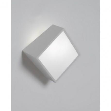 Aplique de Pared Exterior Mini Cuadrado Plata
