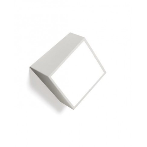 Aplique de Pared Exterior Mini Cuadrado Blanco