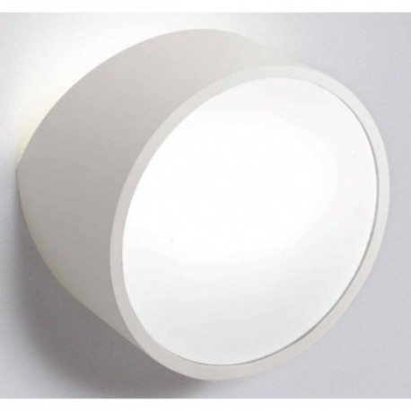 Aplique de Pared Exterior Mini Redondo Blanco
