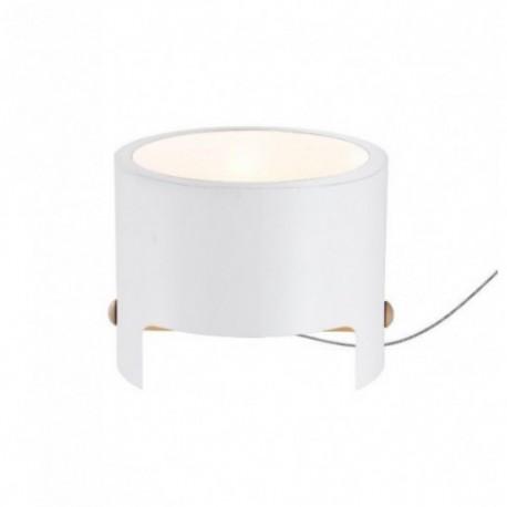 Lámpara de Sobremesa Cube Grande Blanco Madera