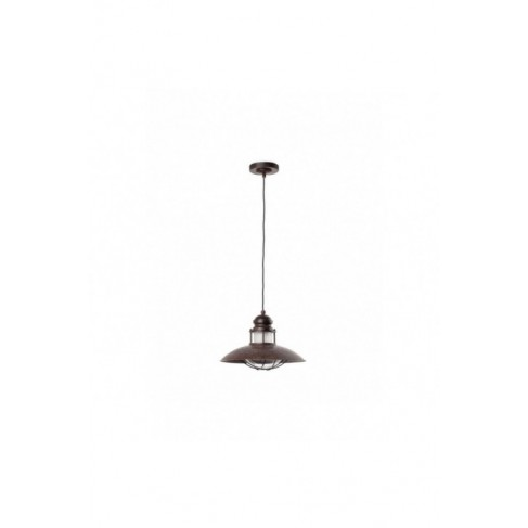 Lámpara Colgante Rústico Winch Marrón Pardo 1 Luz