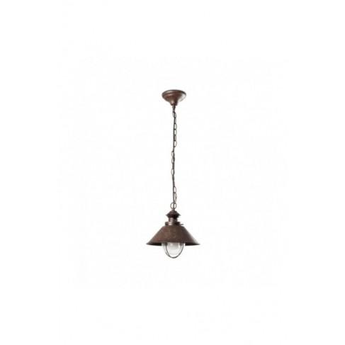 Lámpara Colgante Pequeño Náutica Marrón 1 Luz