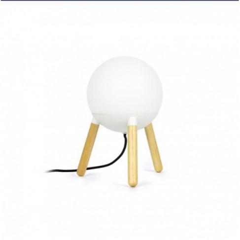 Lámpara de Sobremesa Mine Blanco 1 Luz