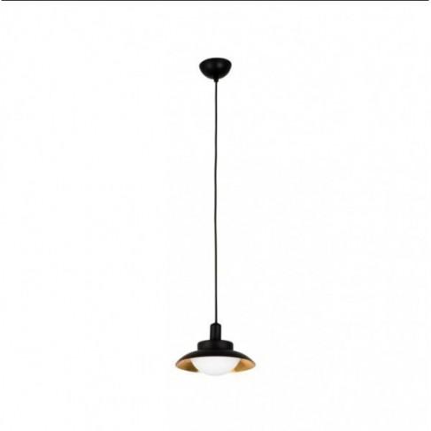 Lámpara Colgante Led Side Negro/Cobre