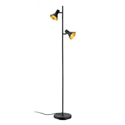 Lámpara de Pie Nina Negro Oro 2 luces
