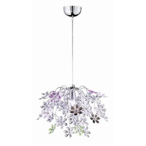 Lámpara Colgante Flower 1 Luz Multicolor