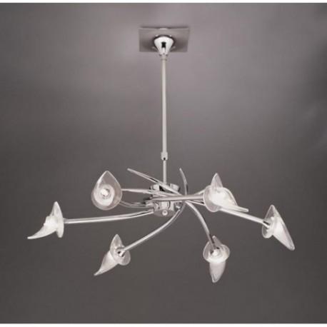 Lámpara Colgante Flavia Cromo 6 Luces