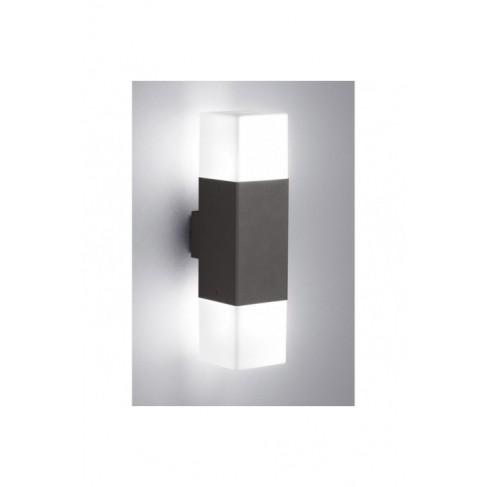 Lámpara Aplique de Pared Exterior Hudson Led Antracita 2 Luces
