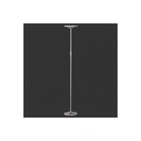 Lámpara de Pie Antorc Led Níquel