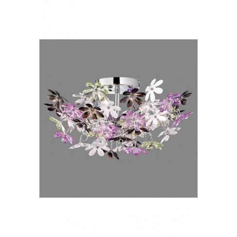 Lámpara Plafón de Techo Flower 4 Luces Multicolor