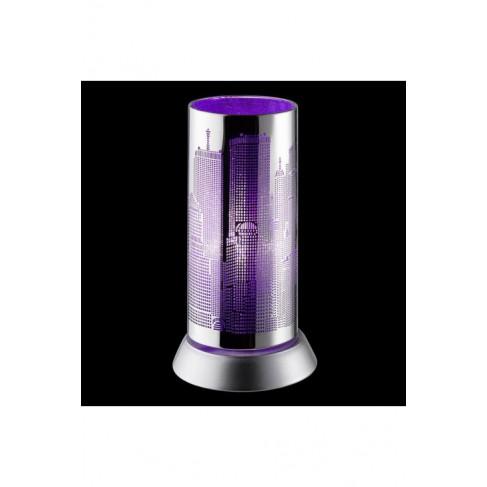 Lámpara Sobremesa City Cromo Lila 1 Luz